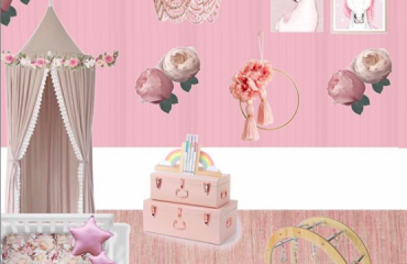 Pretty In Pink Themed Room Mood board With Shopping List
